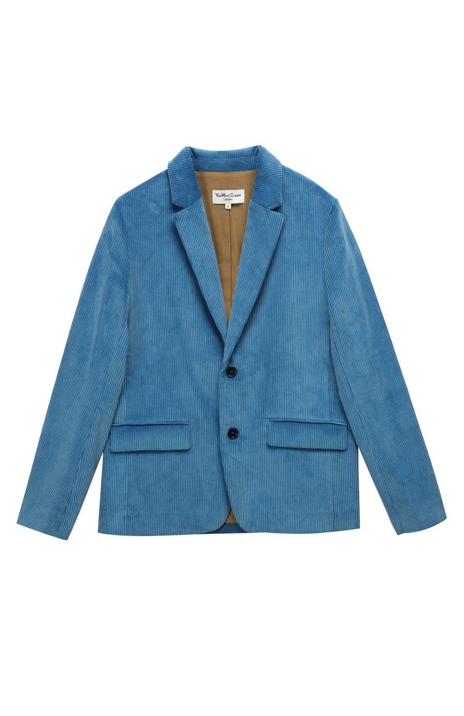 20a4f218604f71 Diane Cord Blazer (blue) - You Must Create (YMC)