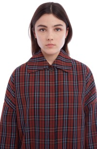 a47bfed8957 Cocoon Check Coat - You Must Create (YMC)