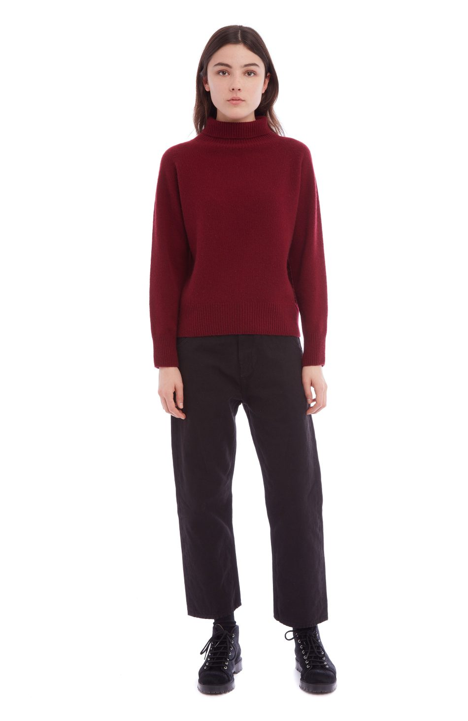3f605ce96d2a Cottage Cashmere Roll Neck (burgundy) - You Must Create (YMC)