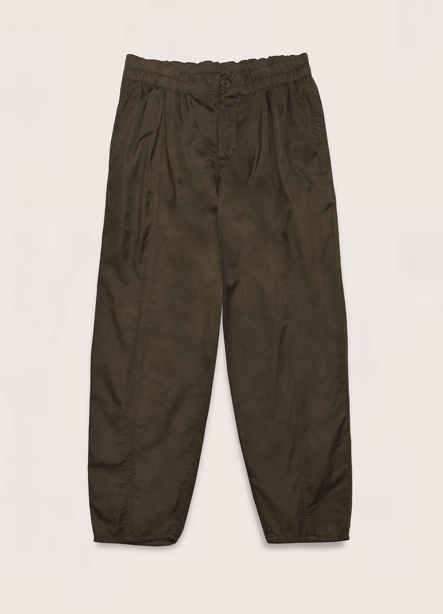Sylvian Bonded Cotton Trousers Olive