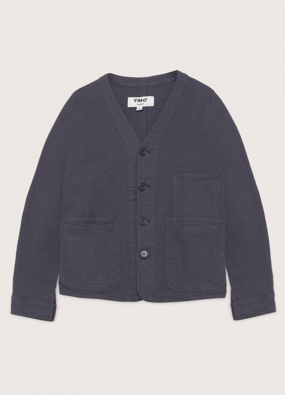 Farm Cotton Paisley Jacquard Jacket Navy