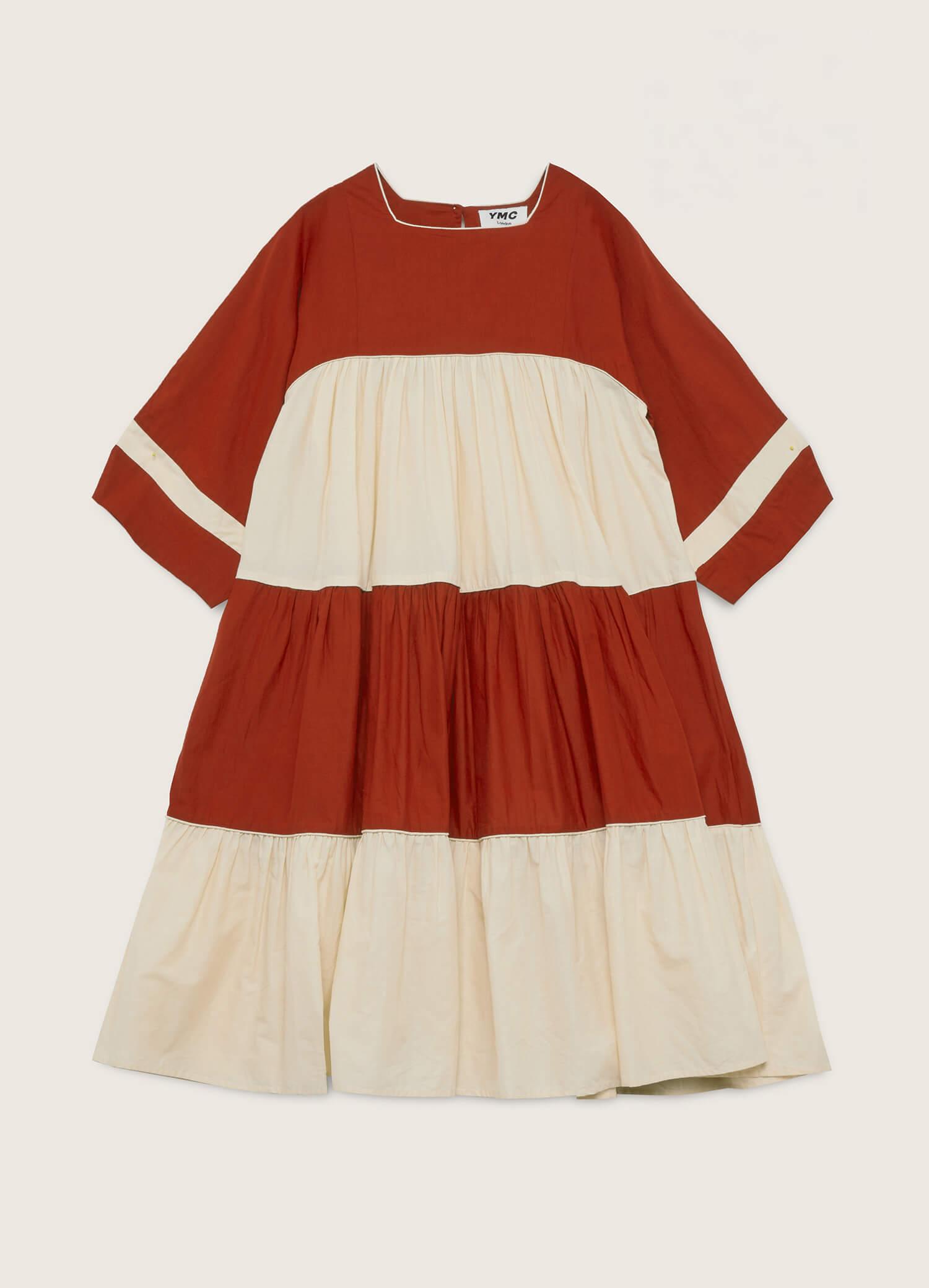 New Paloma Cotton Dress Ecru Red