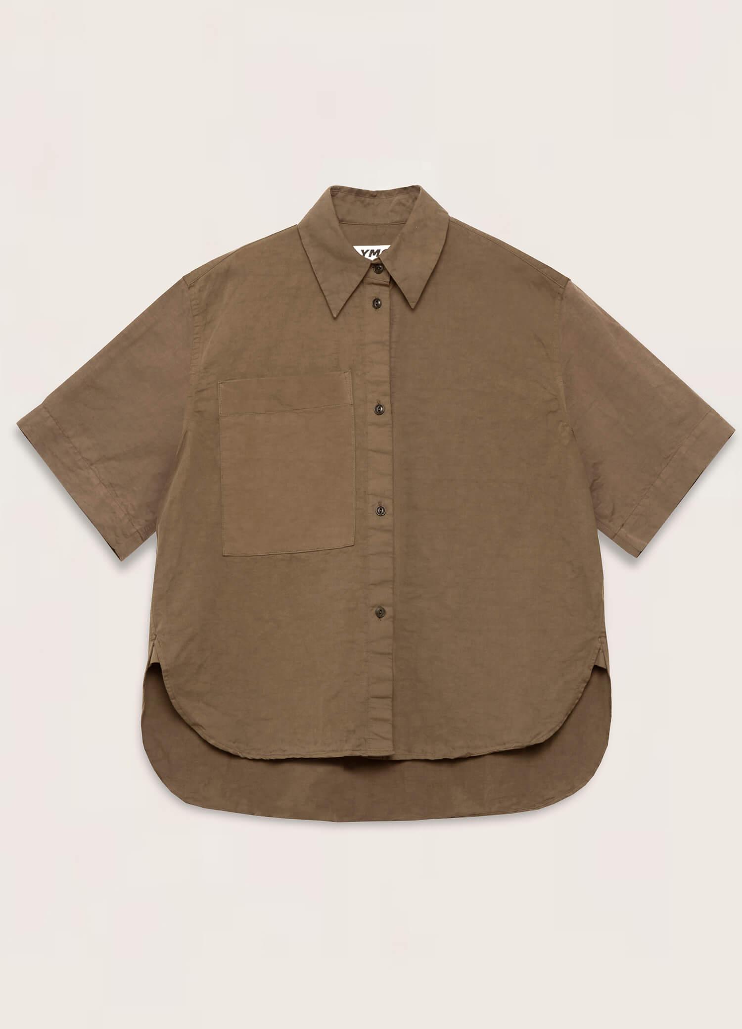Eva Cotton Linen Shirt Olive