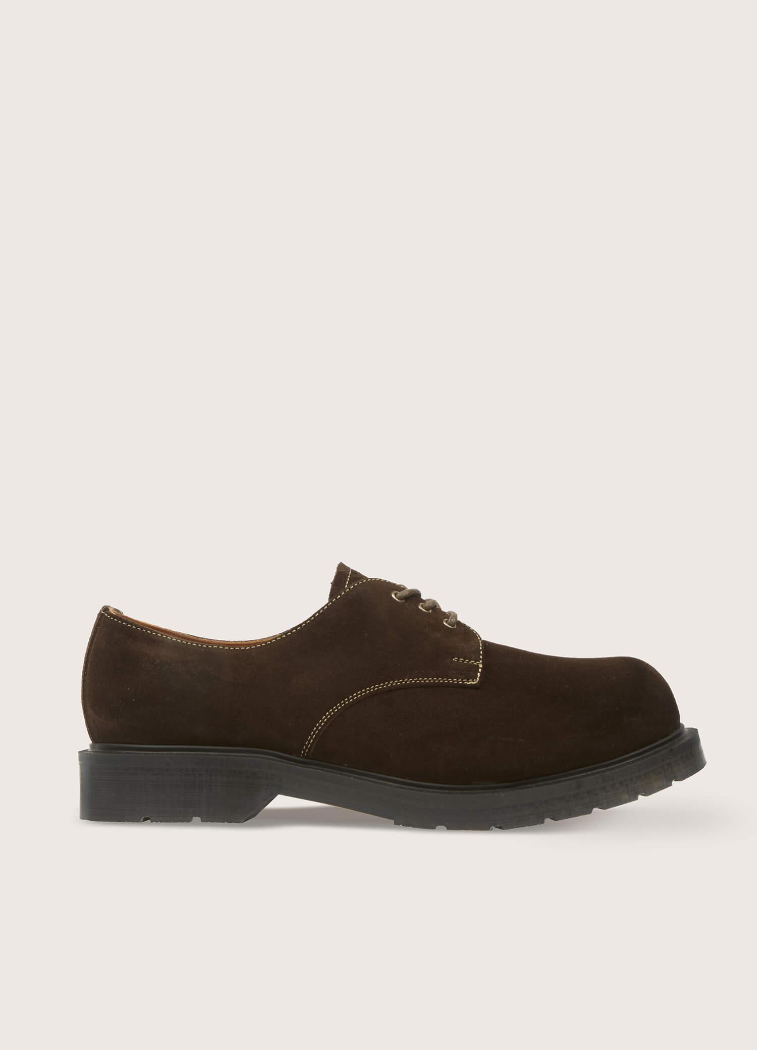 Solovair x YMC Men's Gibson Suede Shoes Brown