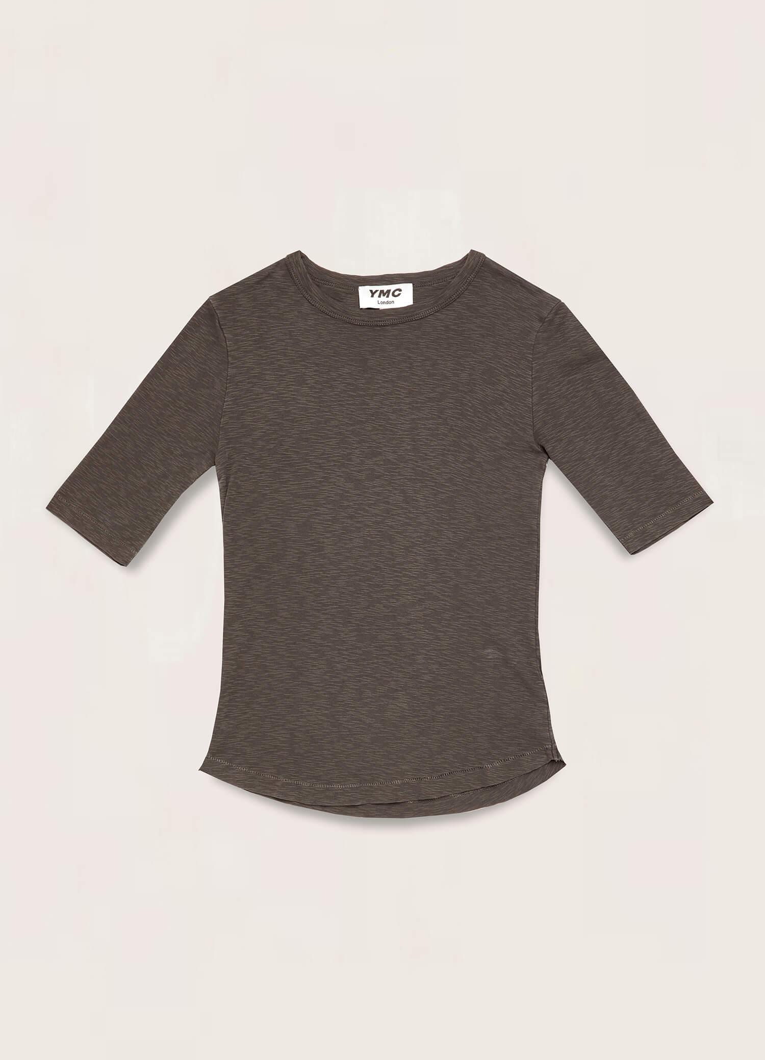 Charlotte Rib Cotton Jersey T-Shirt Olive