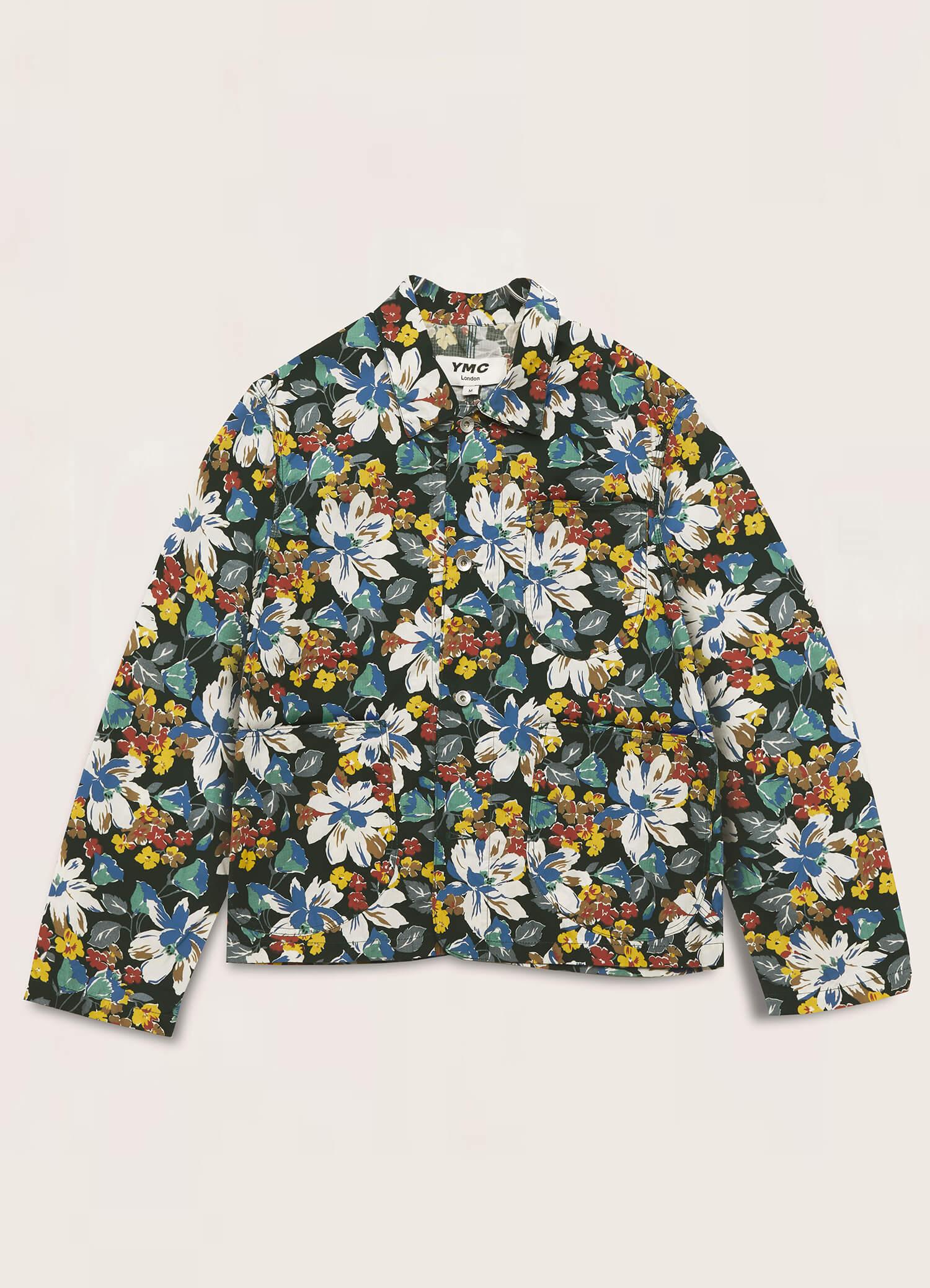 Chore Cotton Ripstop Floral Print Jacket Multi
