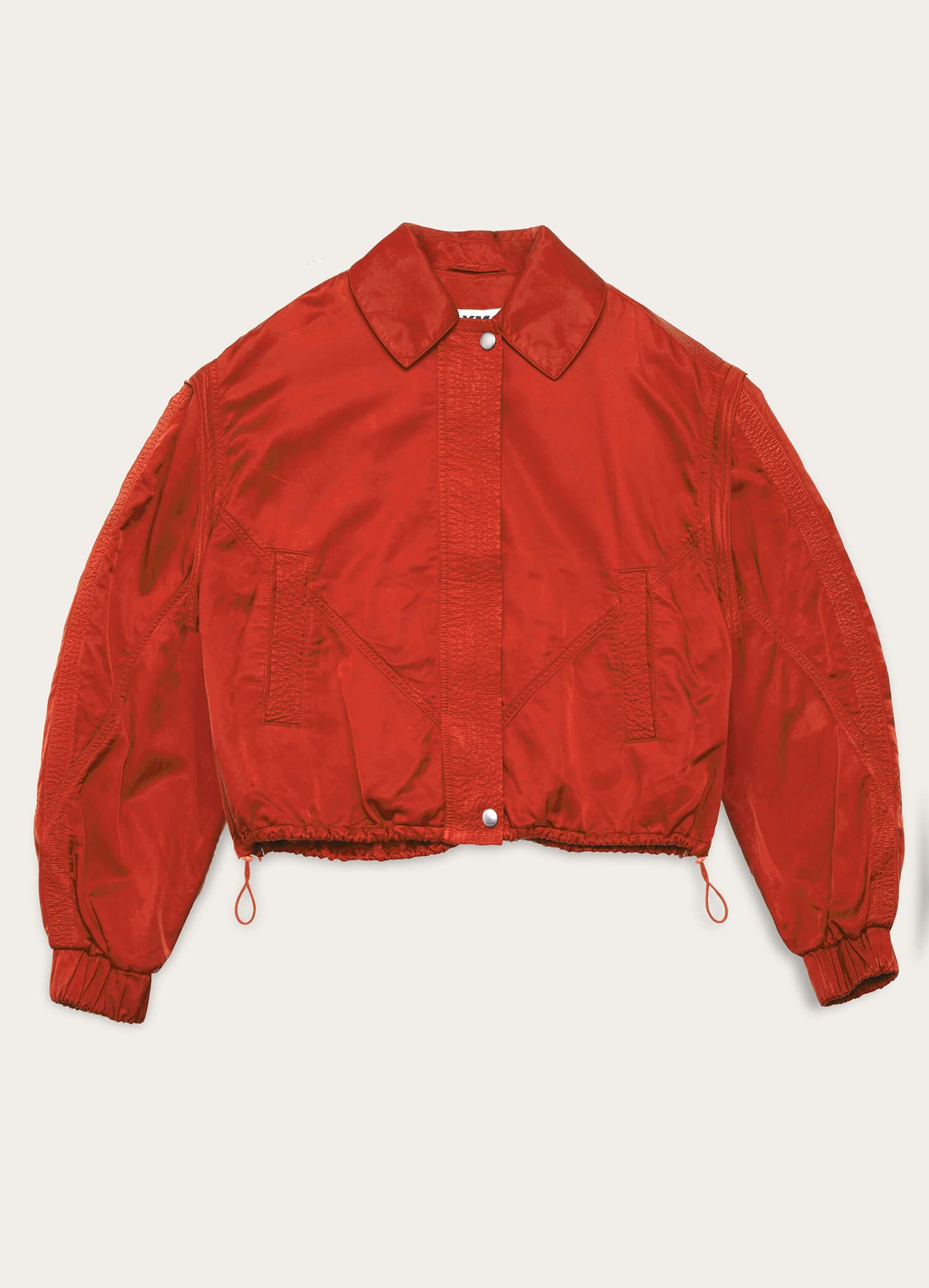 Heath Bonded Cotton Jacket Red