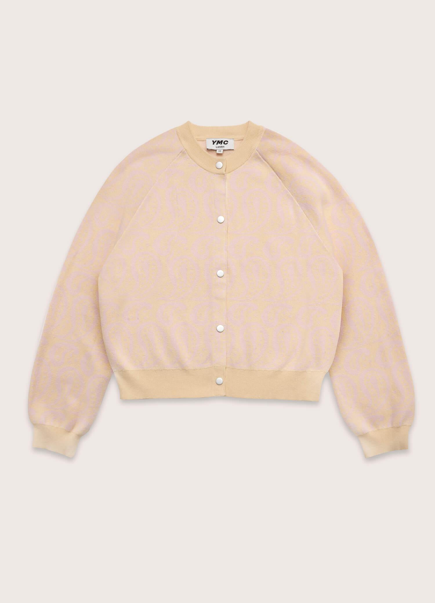 Atomic Cotton Cashmere Paisley Cardigan Yellow Pink