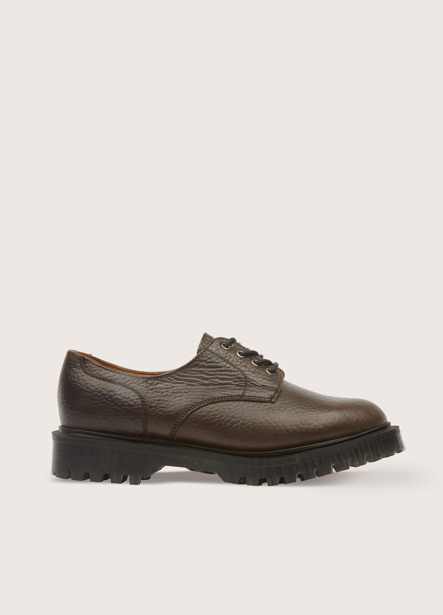 Solovair x YMC Women's Gibson Leather Shoes Dark Brown