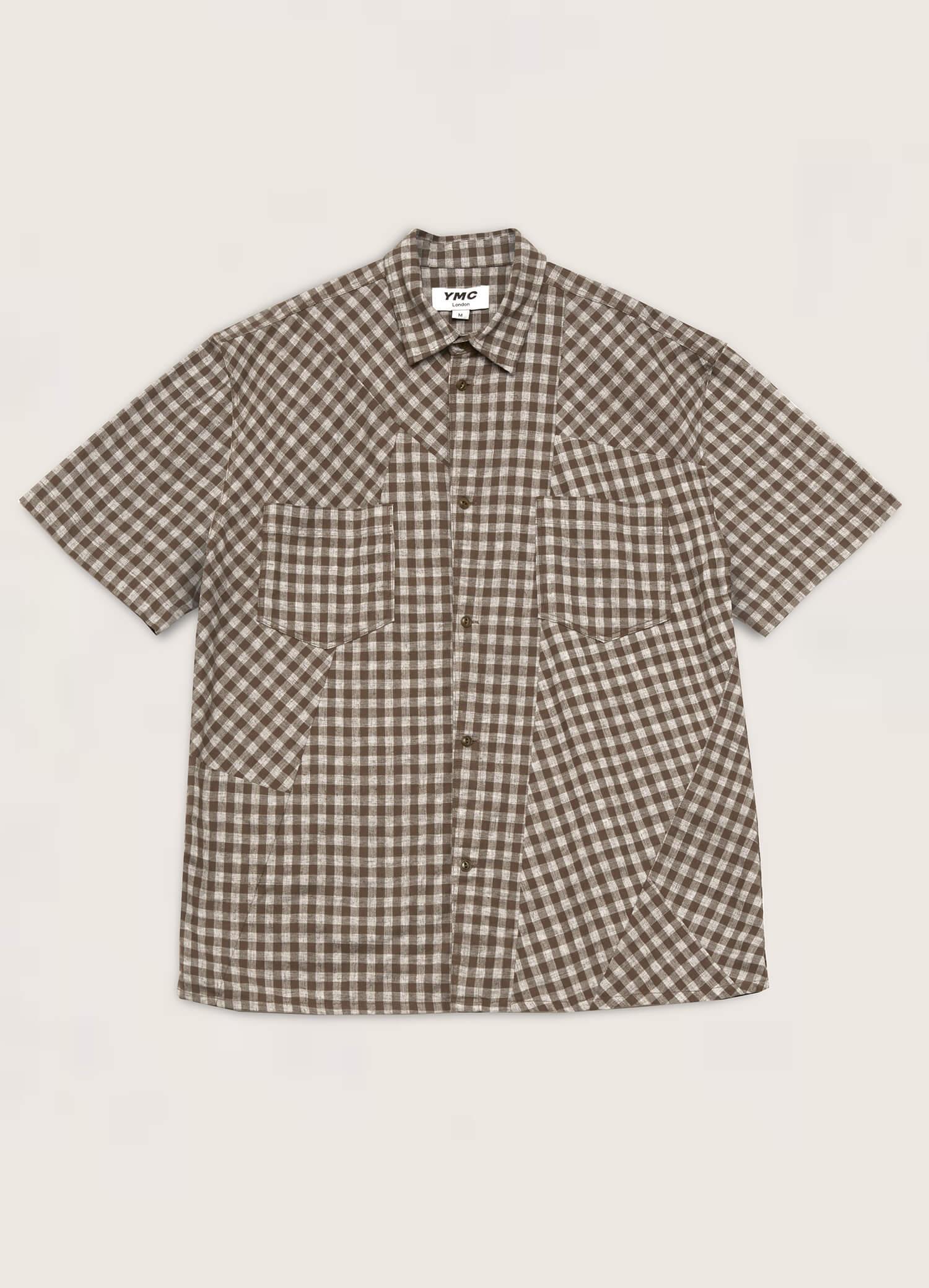 Mitchum Patchwork Check Shirt Olive